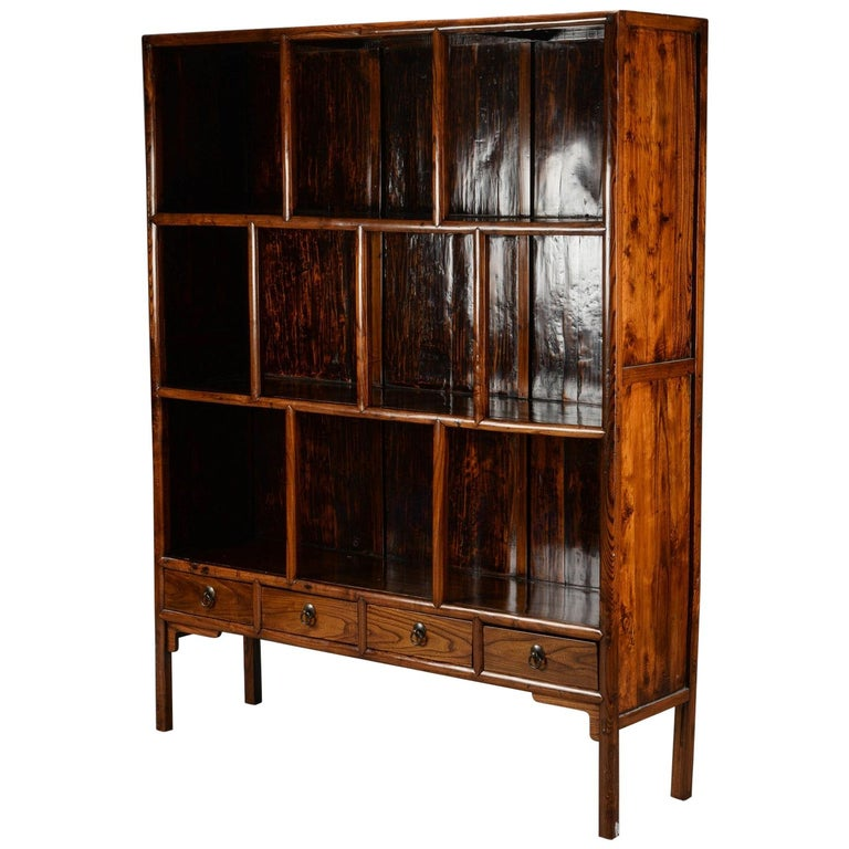 Chinese Hardwood Display Cabinet For Sale