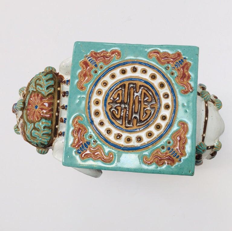 Chinese Hollywood Regency Ceramic Elephant Garden Stool For Sale 6