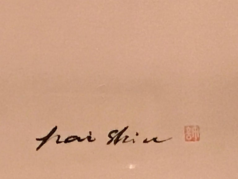 Chinese Horseman Painting, Signed Hai Shin For Sale 4