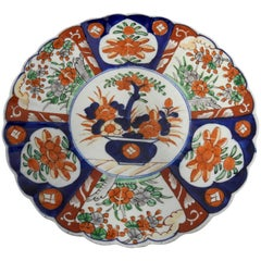 Chinese Imari Charger Plate Early 20th Century Hand Painted