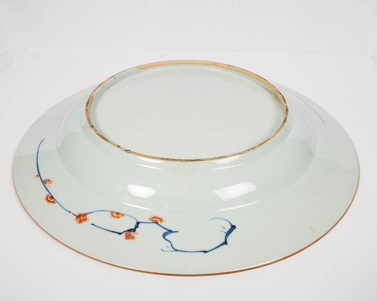 Porcelain Antique Chinese Imari Charger with Floral Decoration For Sale