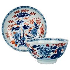 Chinese Imari Export Porcelain Tea Bowl and Saucer