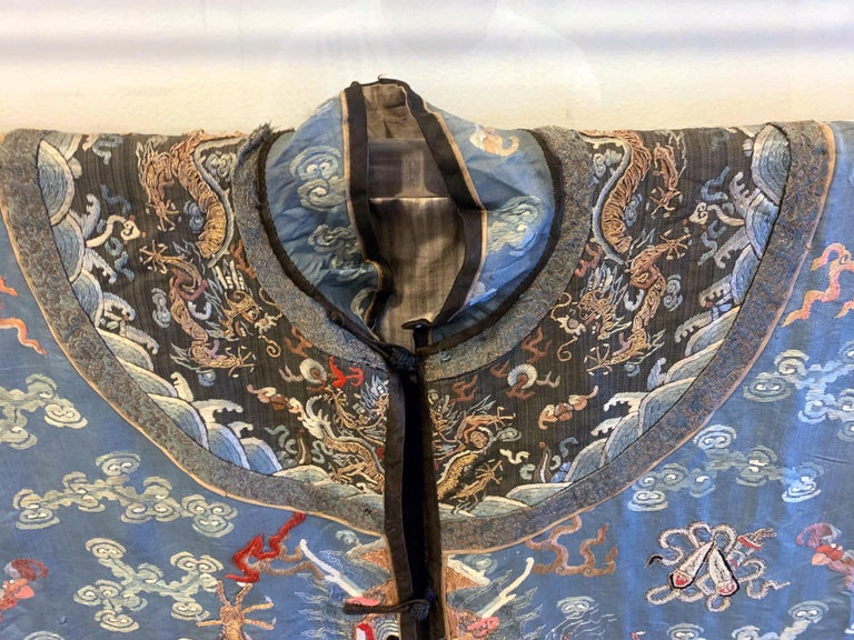Chinese Imperial Dragon Robe Qing Dynasty For Sale 6