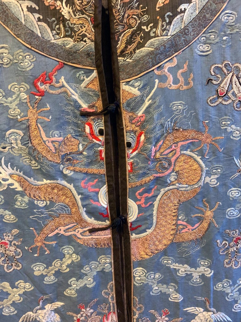 Chinese Imperial Dragon Robe Qing Dynasty For Sale 7