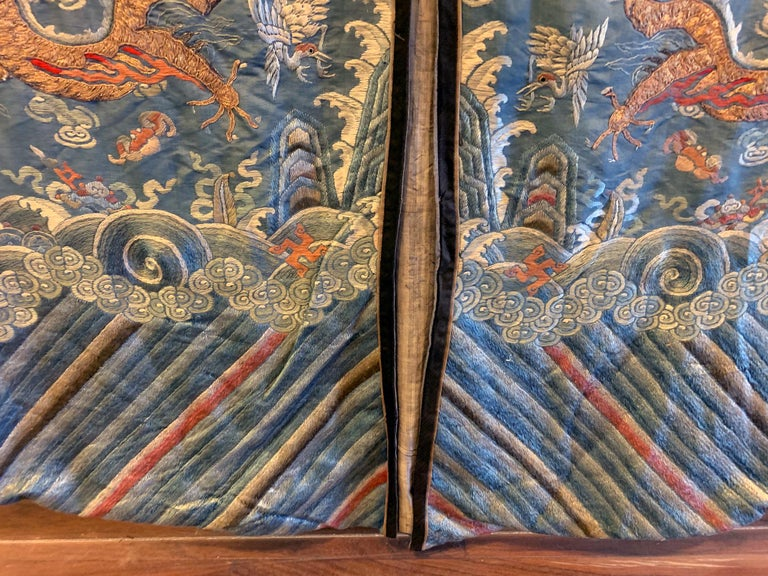 Chinese Imperial Dragon Robe Qing Dynasty For Sale 10