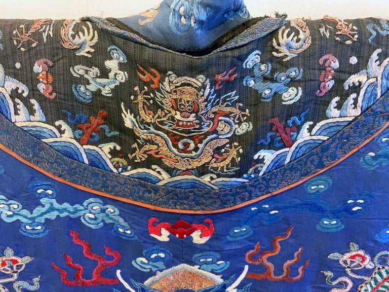 Chinese Imperial Dragon Robe Qing Dynasty In Good Condition For Sale In North Miami, FL
