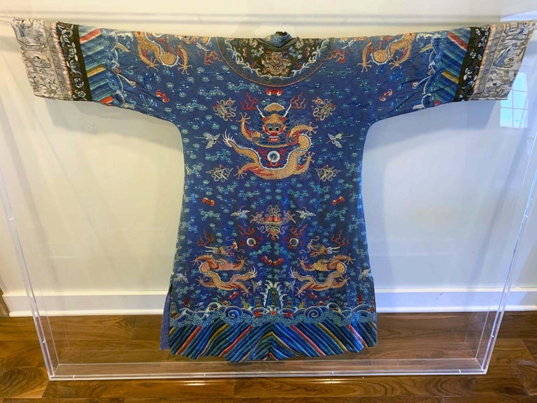Chinese Export Chinese Imperial Dragon Robe Qing Dynasty For Sale