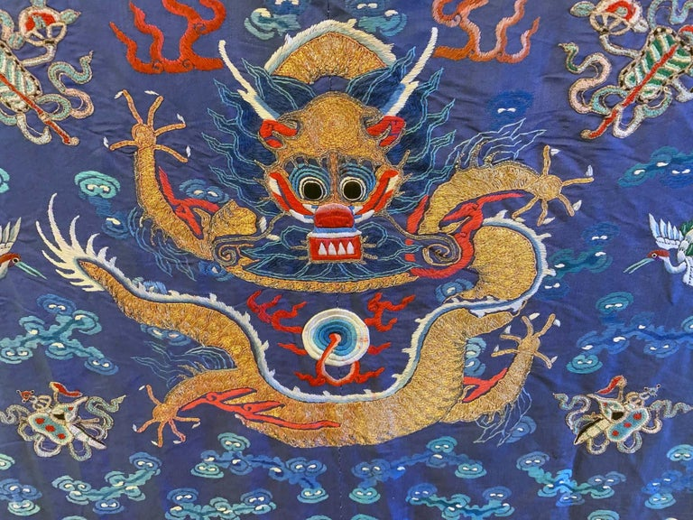 18th Century Chinese Imperial Dragon Robe Qing Dynasty For Sale