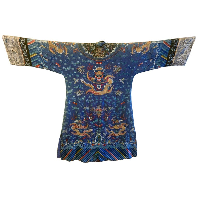 Chinese Imperial Dragon Robe Qing Dynasty For Sale