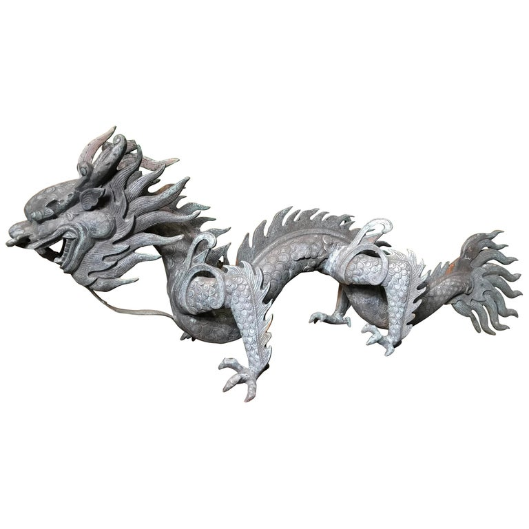 Chinese Fine Antique Bronze Dragon, Qing Dynasty For Sale
