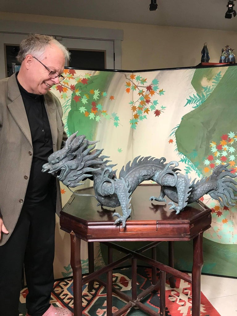 Chinese Fine Huge Antique Bronze Dragon, Qing Dynasty For Sale 7