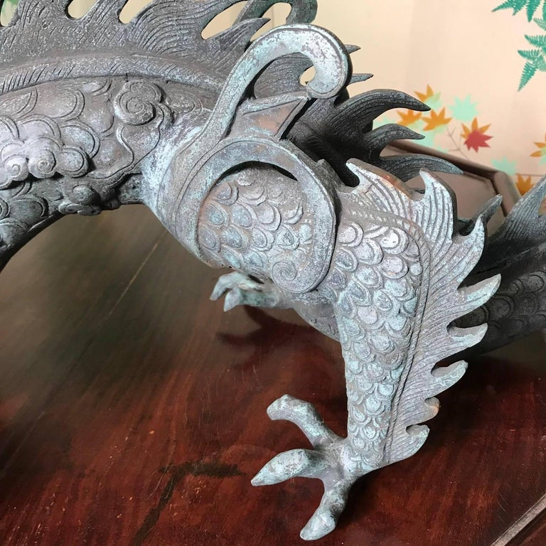 Chinese Fine Huge Antique Bronze Dragon, Qing Dynasty For Sale 11
