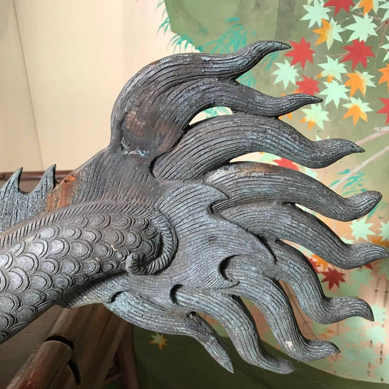 Chinese Fine Huge Antique Bronze Dragon, Qing Dynasty For Sale 13