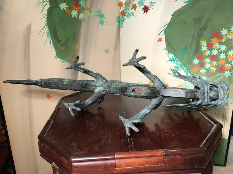 Chinese Fine Huge Antique Bronze Dragon, Qing Dynasty For Sale 14