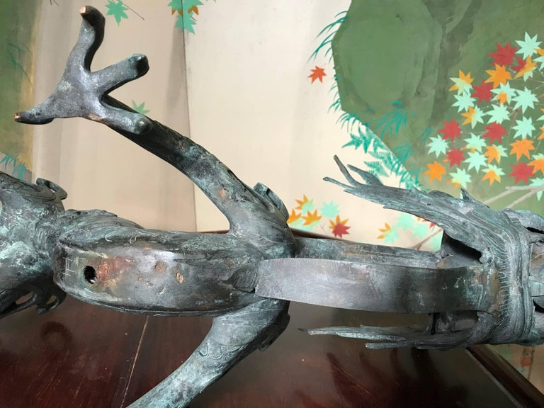Chinese Fine Huge Antique Bronze Dragon, Qing Dynasty For Sale 15