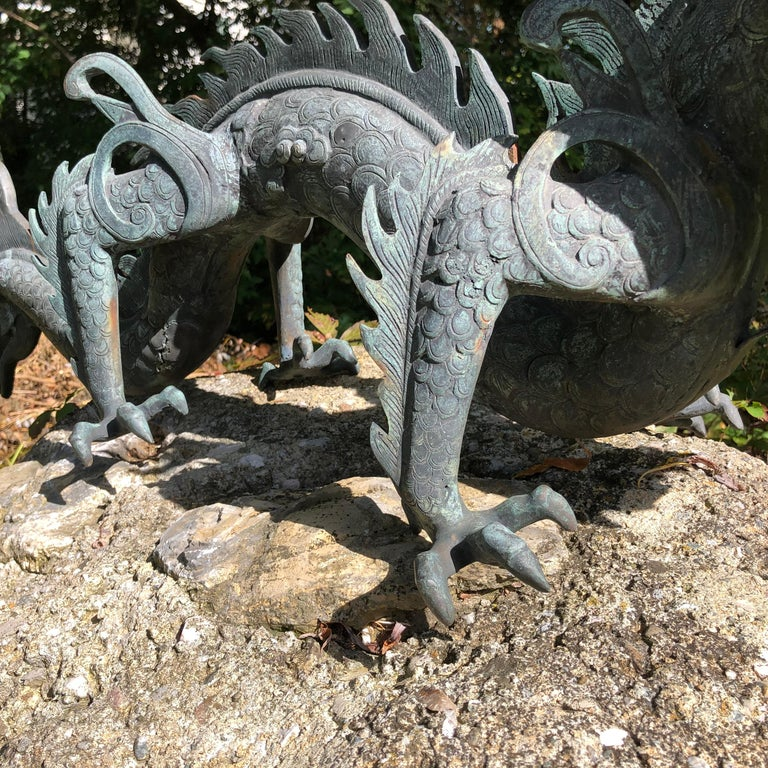Chinese Fine Huge Antique Bronze Dragon, Qing Dynasty For Sale 2