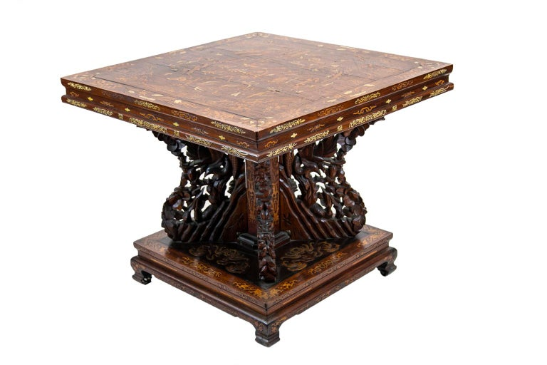 Chinese Inlaid Center Table For Sale 5