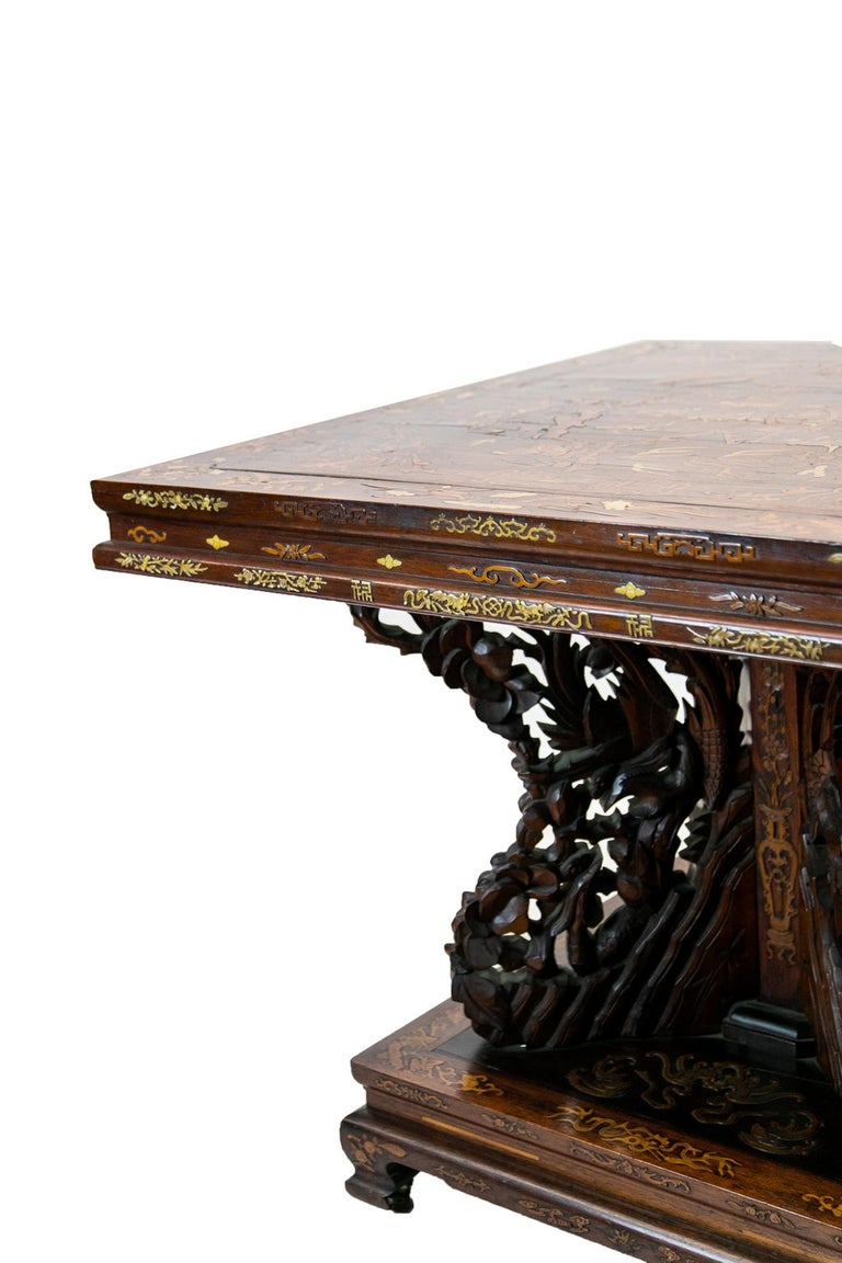 Chinese Inlaid Center Table For Sale 7