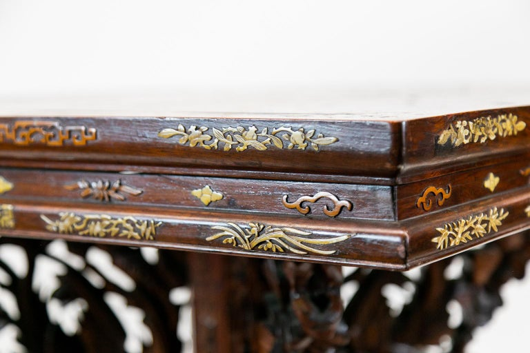 Chinese Inlaid Center Table For Sale 8