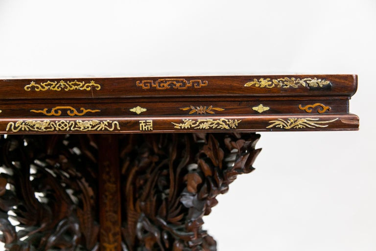 Inlay Chinese Inlaid Center Table For Sale