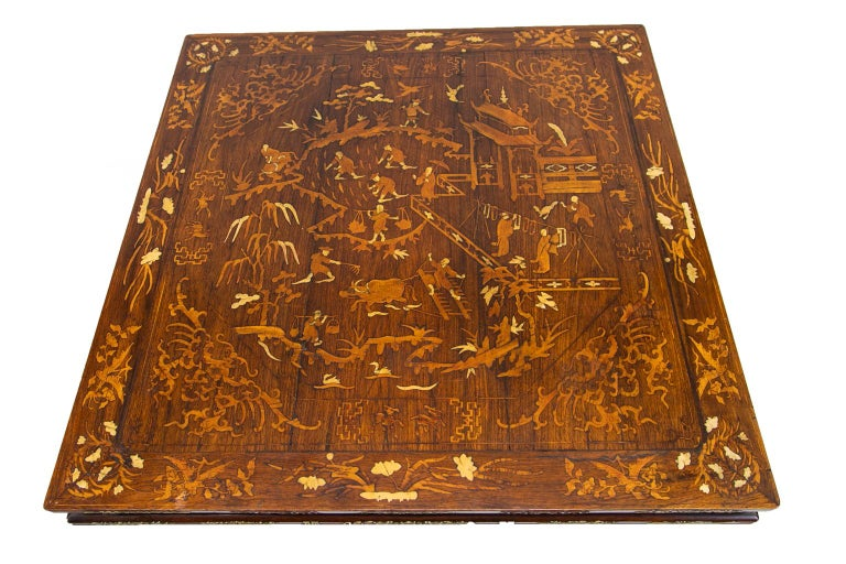 Bone Chinese Inlaid Center Table For Sale