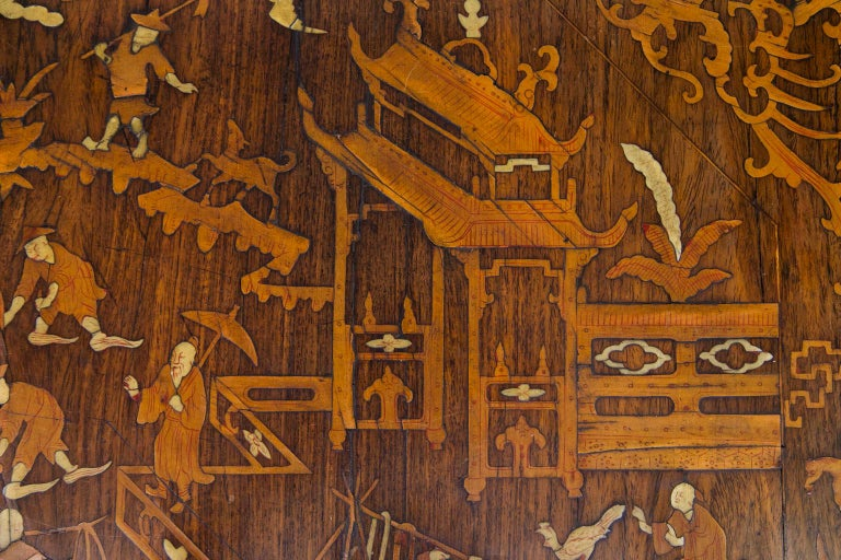 Chinese Inlaid Center Table For Sale 2