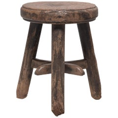 Chinese Iron Star Stool, circa 1900