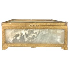 Chinese Jade and Gilt Metal Vanity Box, Casket Box