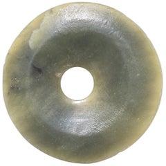 Chinese Jade Bi Disc Charm