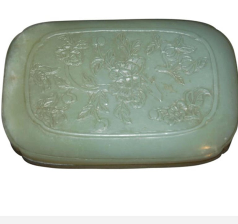 20th Century Chinese Jade Box For Sale