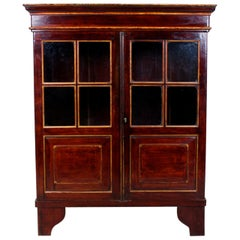 Chinese Lacquer Glazed Bookcase Display Cabinet Oriental