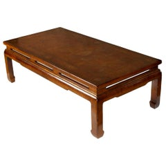 Chinese Lacquered Coffee Table in Caramel
