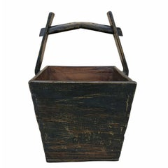 Chinese Lacquered Grain Bucket