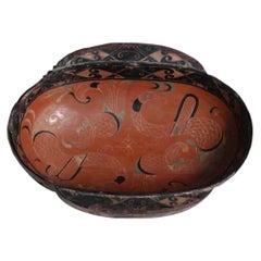 Chinese Lacquered Wood Han Erbei 'Ear Cup', Changsha, Hunan Province