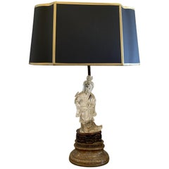 Chinese Lamp with Peking Glass Sculpture Base