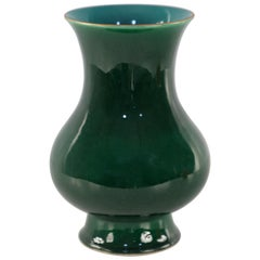 Chinese Langyao Emerald Green Glazed Footed Porcelain Vase