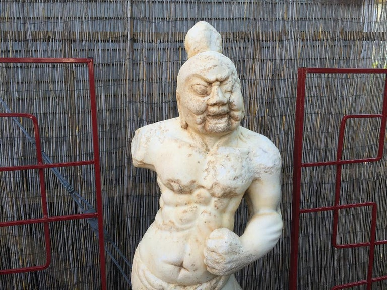 This powerful old guardian sculpture will bring awesome style to your home, office, sacred space, or garden