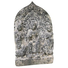 "Chinese Large Old Stone ""Buddha"" of Compassion, Private Family Shrine"