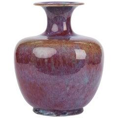 Chinese Large Vintage Sang De Bouef Glazed Art Pottery Vase