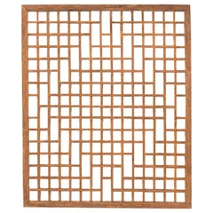 Chinese Lattice Window Panel, circa 1900