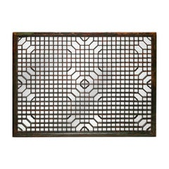 Chinese Lattice Window Panel Mirror