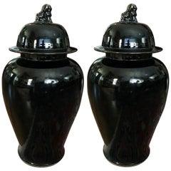 Chinese Lidded Ginger Jars