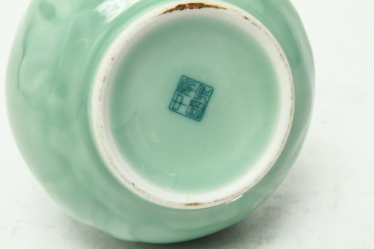 Chinese Export Chinese Longquan Celadon Yuhuchunping Bottle Vase For Sale