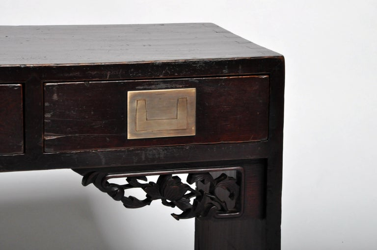 Chinese Low Table with Four Drawers For Sale 5