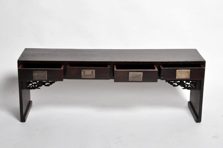 Chinese Low Table with Four Drawers For Sale 7