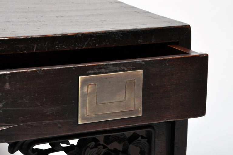 Chinese Low Table with Four Drawers For Sale 10