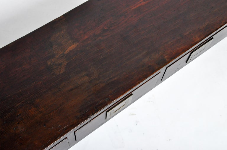 Chinese Low Table with Four Drawers For Sale 14
