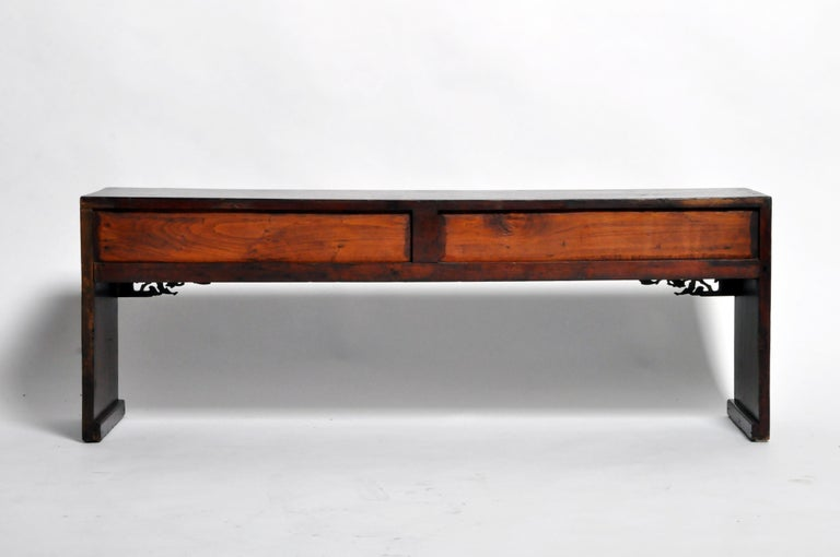 19th Century Chinese Low Table with Four Drawers For Sale