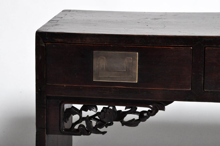 Chinese Low Table with Four Drawers For Sale 3