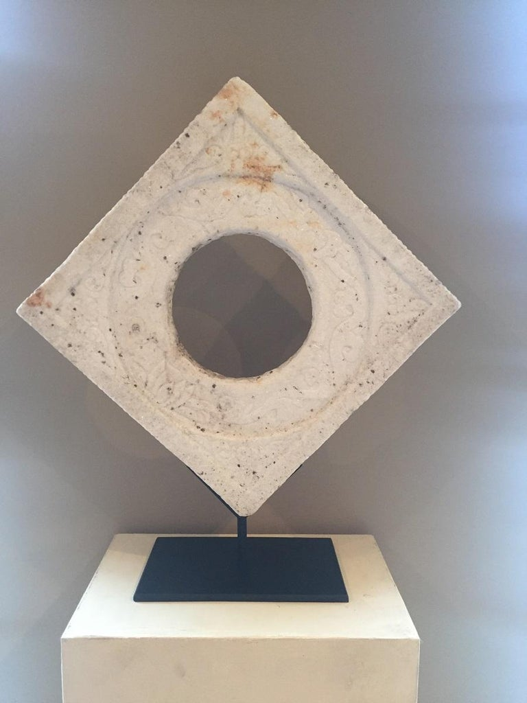 19th Century Chinese Marble Architectural Fragment Window For Sale